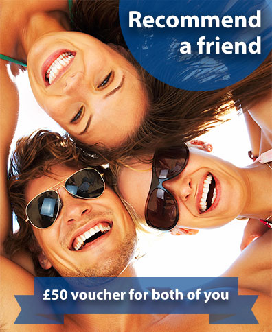 Recommend a friend to get £50 voucher for both of you