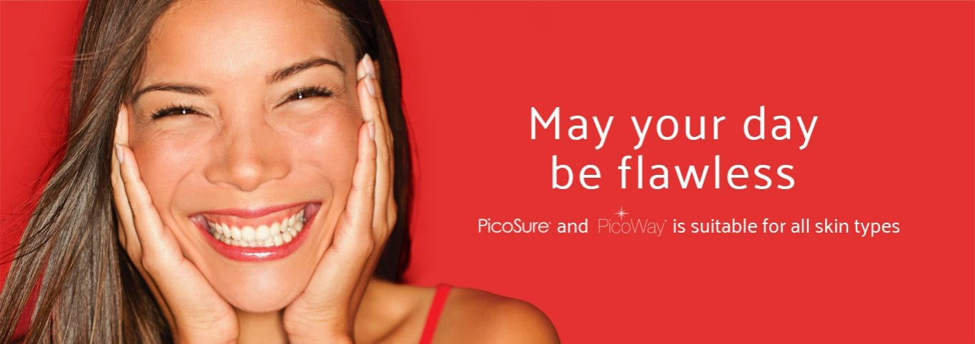 Laser acne scar removal banner graphic