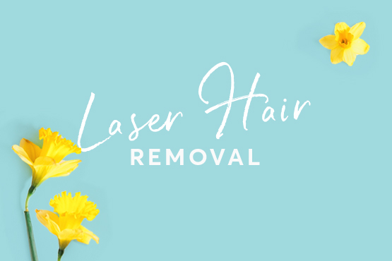 Laser hair removal spring special offers graphic