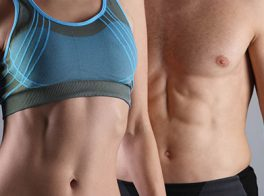 Athletic models of man and women