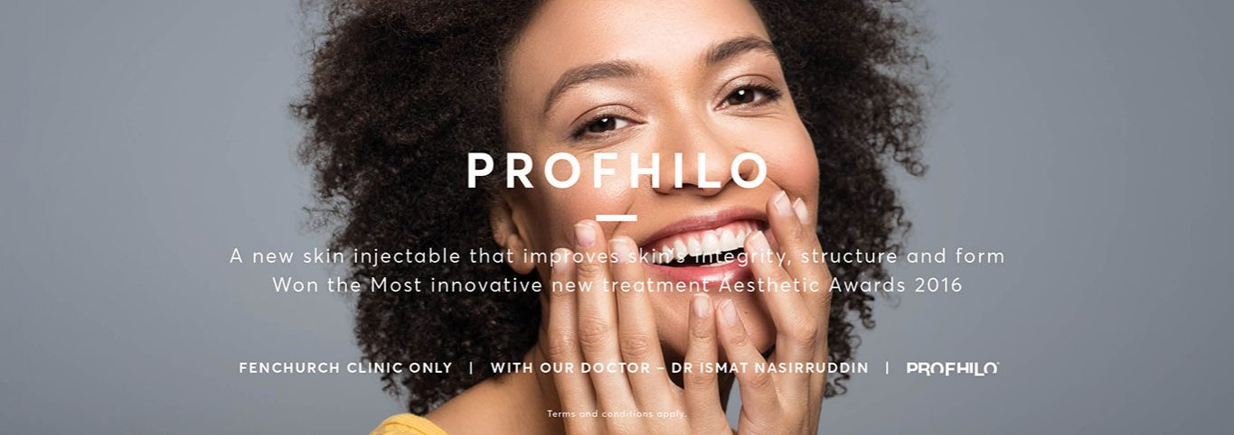 Lady with clear skin promoting the Profhilo Treatment