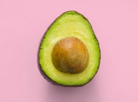 Avacado in pink background