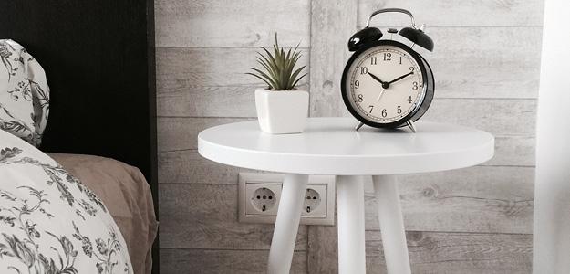 Clock in a bedroom