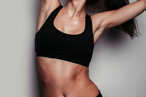 Lady with nice abdomen