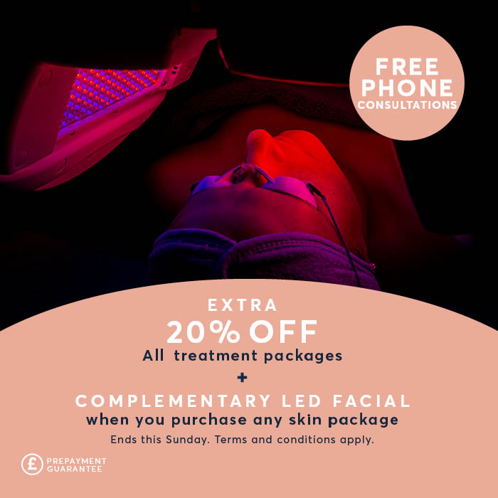 Free LED treatment with extra 20% discount offer