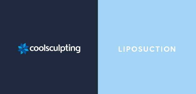 CoolSculpting vs Liposuction graphic