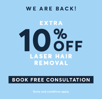 Extra 10% off Laser Hair Removal offer full details