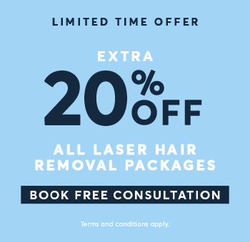 All laser hair removal 20% Off