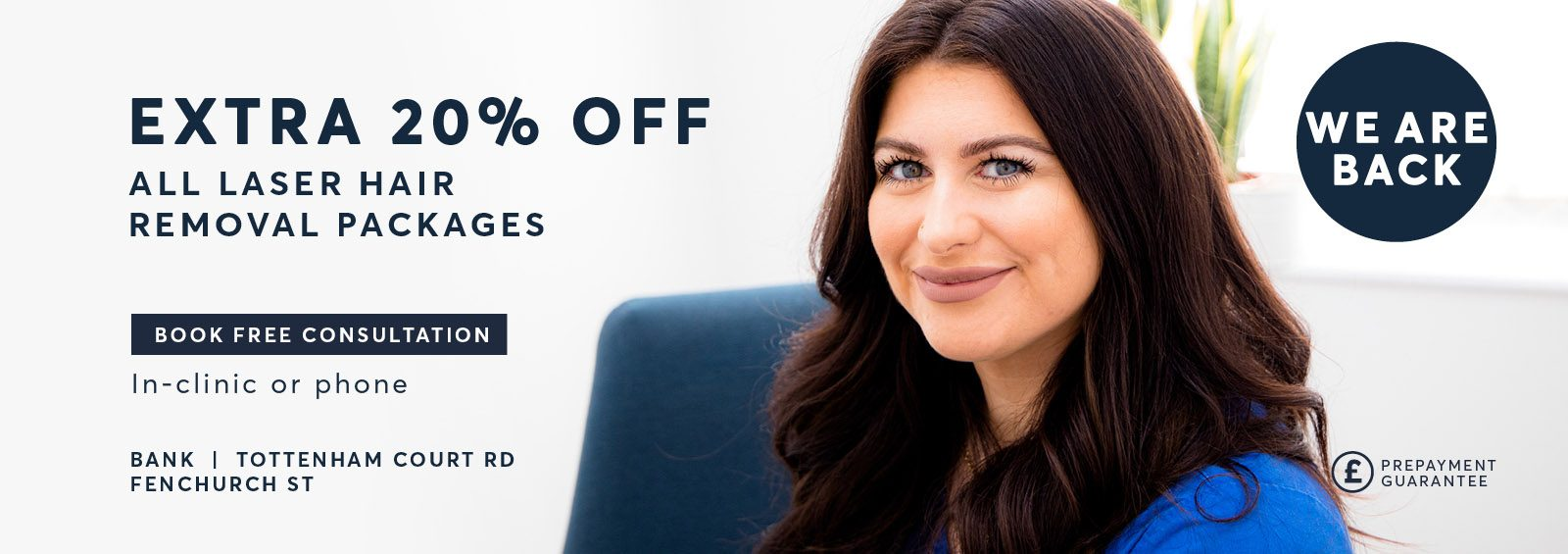 Home Page Laser Hair Removal Extra 20 percent discount