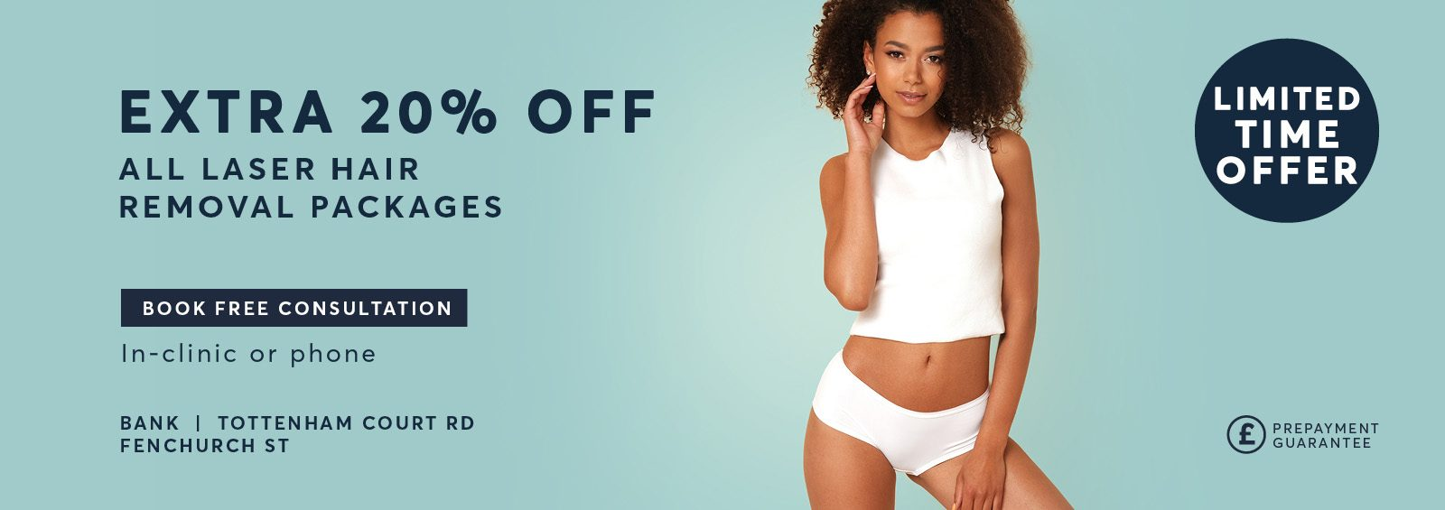 Extra 20% Off Laser Hair Removal