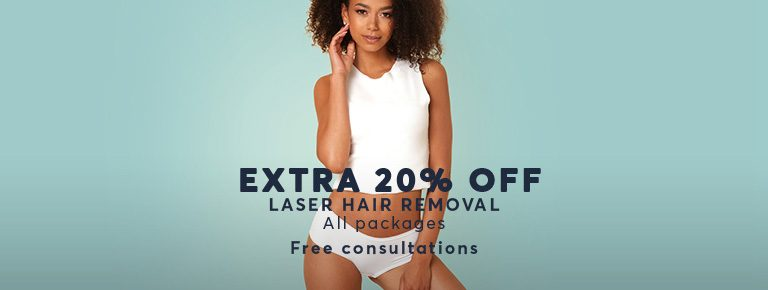 Lazer Hair Removal Extra 20% Off