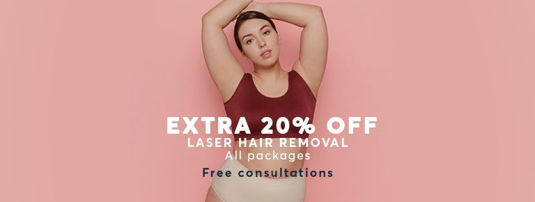 Hair Removal with Laser extra 20% off