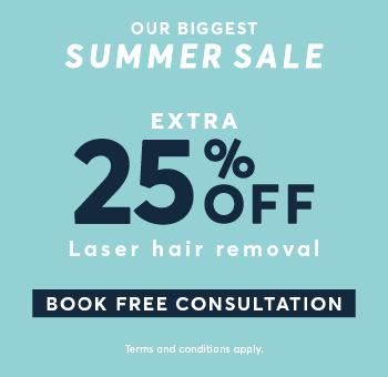 25 per cent off Laser Hair Removal