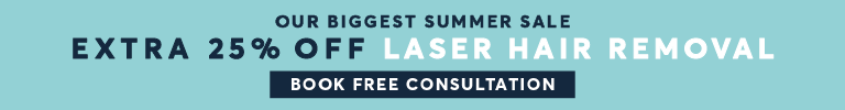 Bigger Summer Sale 25 per cent Hair removal with laser