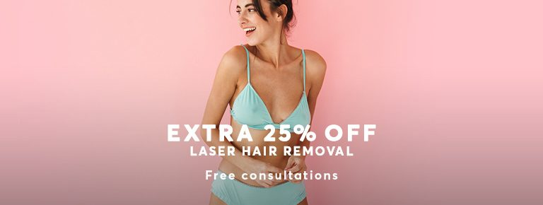 25% Discount laser hair removal