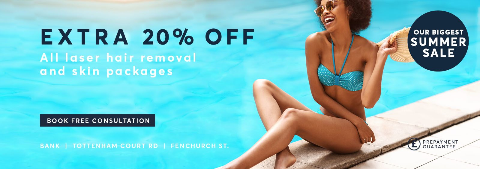 Extra 20% Off all treatments summer