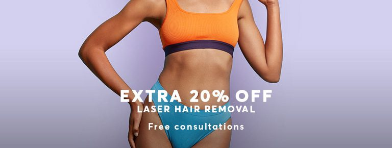 20 percent off Hair Removal with Laser