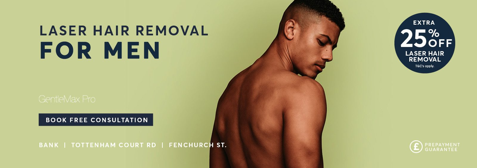 Laser Hair Removal for Men Autumn 25 % Off